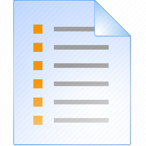 checklist, form, items, menu, notepad, task list, test icon