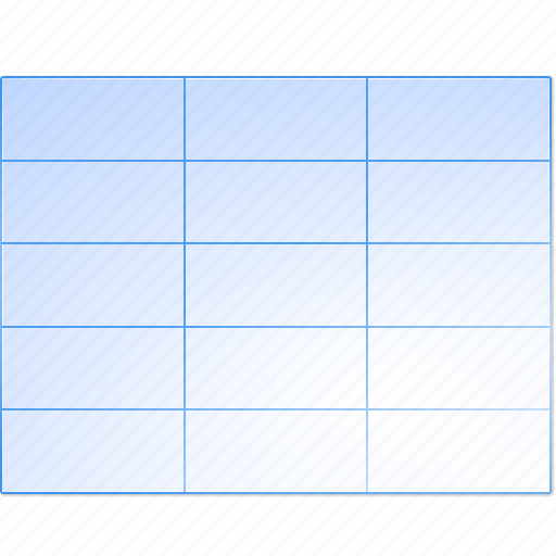 data, excel, grid, sheet, spreadsheet, stock, table icon