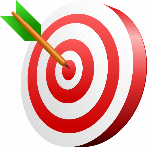 Aim, bullseye, center, goal, point, target, targeting arrow icon - Download on Iconfinder