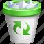 delete, full dustbin, recycle bin, remove, rubbish basket, trash can, trashcan icon
