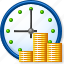 banking, credit, currency, finance, money, recurrent payment, time icon