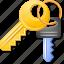 access keys, key trinket, open lock, password, safety, security, unlock icon