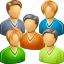 company, conference, customers, people, social network, team, users icon