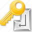 access key, enter, keyboard, login, password, safety, security icon