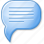 chat, comment, letter, message, social communication, text, word box icon