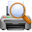 find, print preview, printer, printing, search, view file, viewer icon