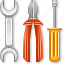 application tools, desktop settings, equipment, hardware, options, system configuration, wrench icon