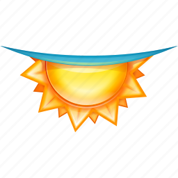 blue beam, dusk, sun, underwater icon
