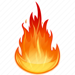 burn, burning, fire, flame, heat icon