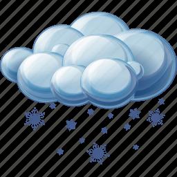 cloud, sleet, snow icon