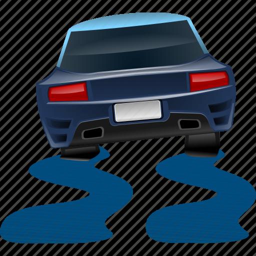 car, road, slip, slippery icon