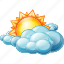 clouds, cloudy, day, weather icon