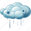 hail, rain, snow, thunderstorm icon