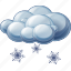 cloud, heavy, snow icon