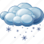 cloud, sleet, snow icon