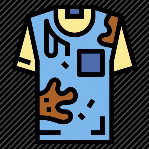 clothing, dirty, shirt, wash icon