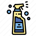 bottle, shampoo, soap, spray icon