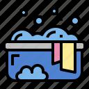 basin, clean, clothes, wash, washing