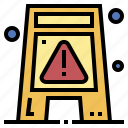 construction, floor, signaling, warning, wet icon