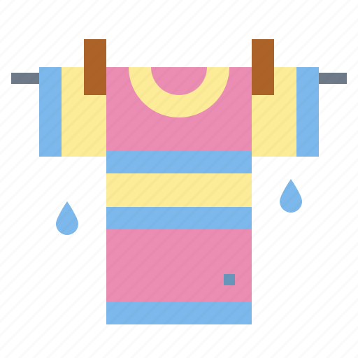 clothing, dry, drying, shirt icon