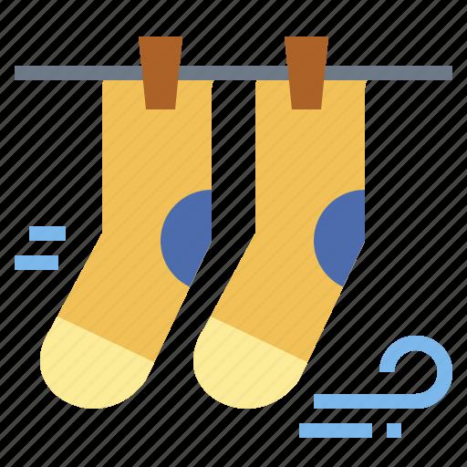 clothing, feet, socks, weather icon