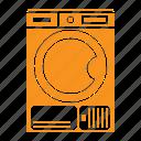 laundry, tumble dryer, dry, machine, manufacturing icon