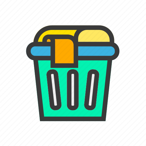 basket, bucket, clean, laundry, wash icon