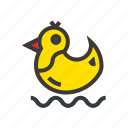 clean, duck, laundry, toy, wash icon