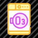 drying, laundry, machine, ozone, system, tool icon