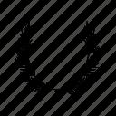 heraldic, laurel, leaf, victory, wreath icon