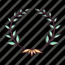award, cartoon, laurel, leader, logo, object, wreath