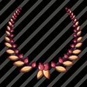 award, cartoon, laurel, logo, object, trophy, wreath