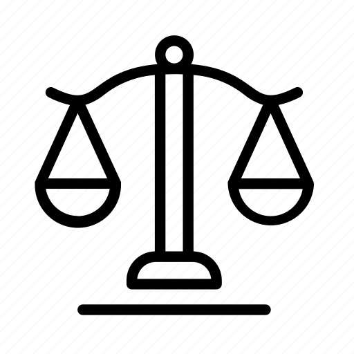 crime, justice, law, scales icon