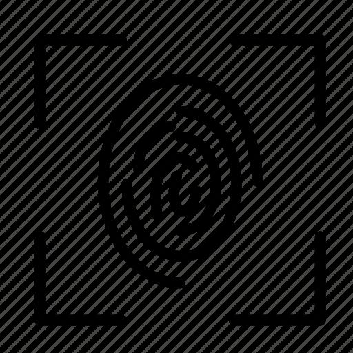 arrest, crime, fingerprint, justice, law, scanner icon