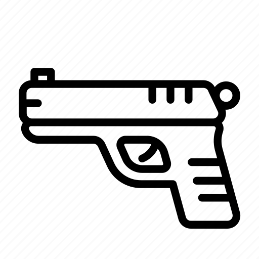 crime, gun, handgun, pistol, revolver, shoot icon