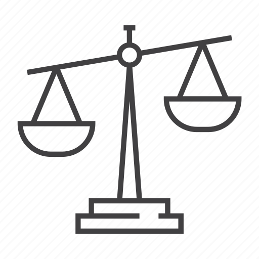 balance, court, justice, law, scale, weight icon