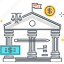 bank, banking, earnings, economy law, money, office, tax icon