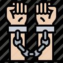 arrested, criminal, custody, handcuffed, jail icon