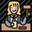 courtroom, decision, judge, jury, verdict icon