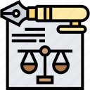 contract, agreement, judgement, legal, document
