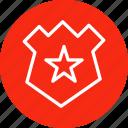 badge, enforcement, law, star