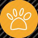 dog, dog foot, dog foot print, print