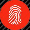 finger, fingerprint, hand, print