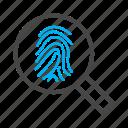 finger, hand, print, printer, scanning icon