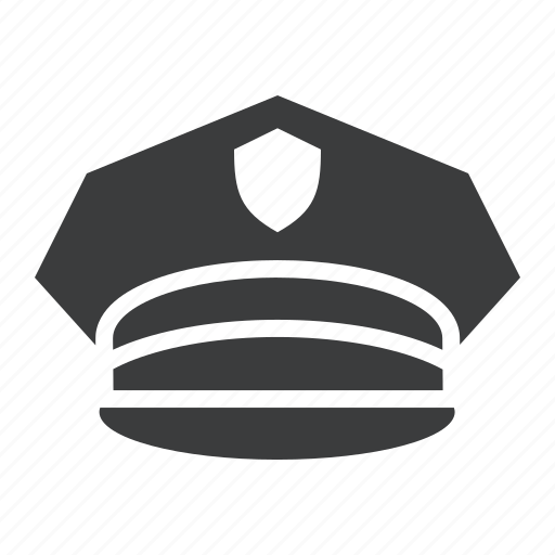 cap, crime, hat, law, military, officer, police icon