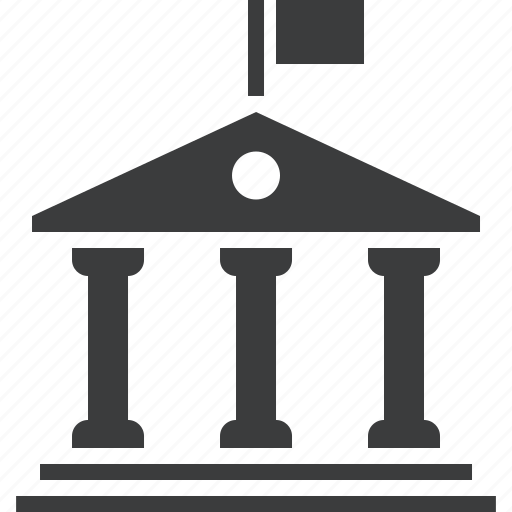 building, court, courthouse, government, institution, judicial, office icon