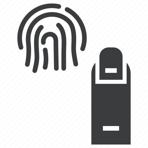 biometric, finger, fingerprint, id, scan, test icon