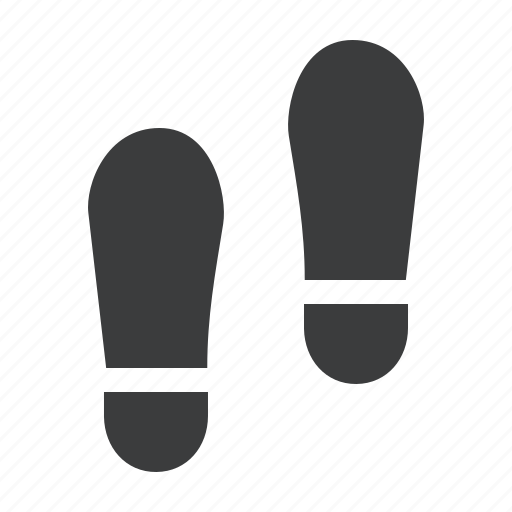 crime, foot, footprints, forensic, investigate, police, steps icon