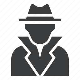 avatar, boss, criminal, detective, gangster, police, suspect icon
