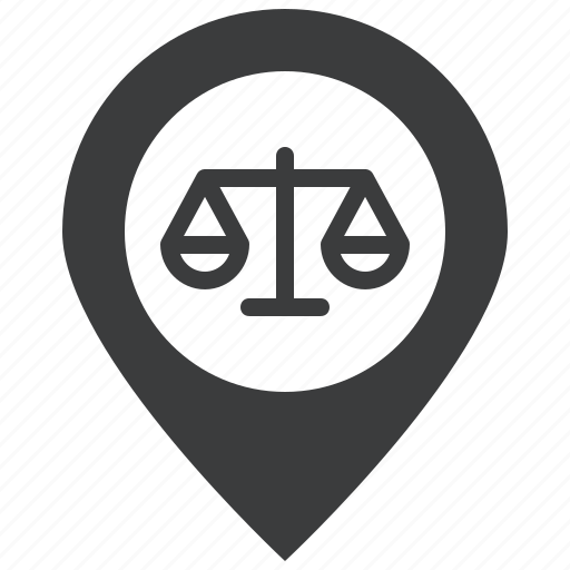 court, courthouse, location, map, marker, navigation, pin icon